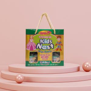 Tổ yến chưng sẵn hiệu Kids Nest Plus - Apple - Hộp 6 hũ